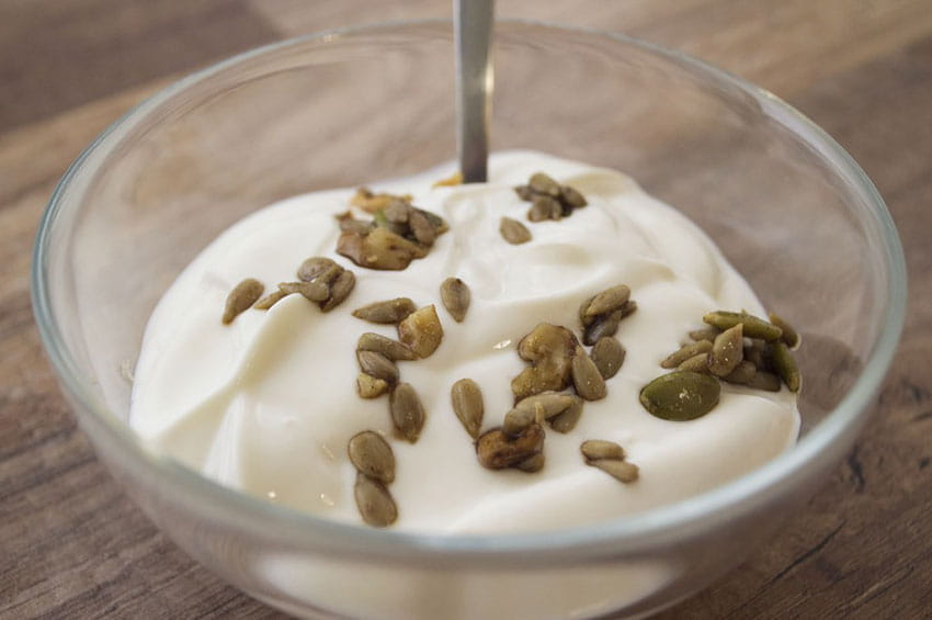 [picture of creamy Greek yogurt dessert]