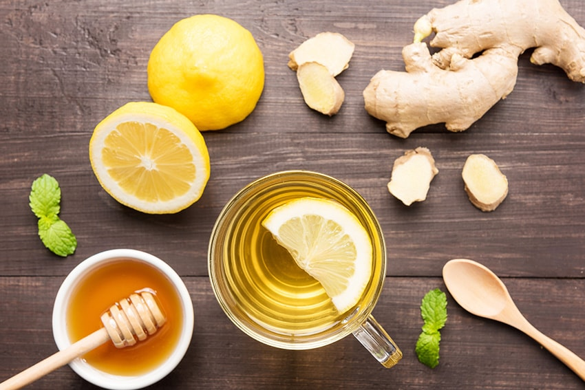[picture of lemon ginger detox tea]