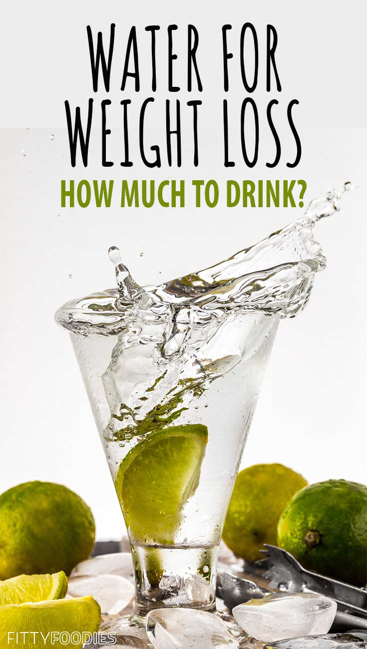 Drinking Water For Weight Loss - Image For Pinterest
