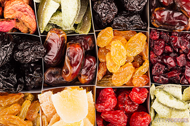 variety of dried fruit