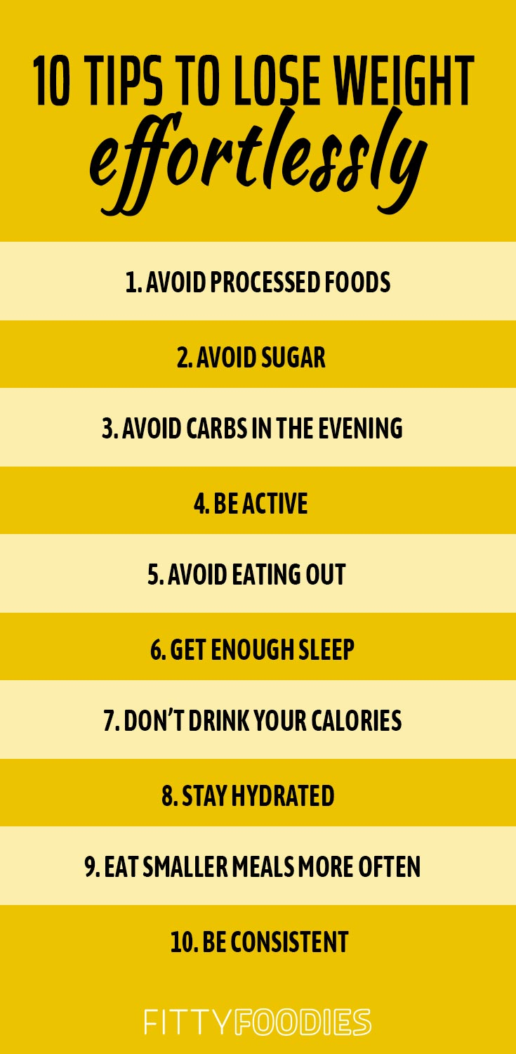 10 Tips To Lose Weight Effortlessly