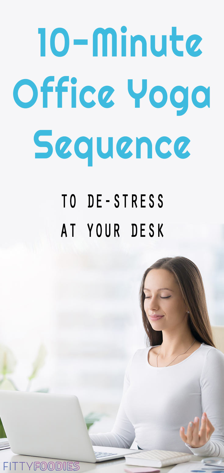 10-Minute Office Yoga Sequence To De-Stress At Your Desk | Yoga Sequence For Stress | Yoga Poses For Stress | Office Yoga Poses