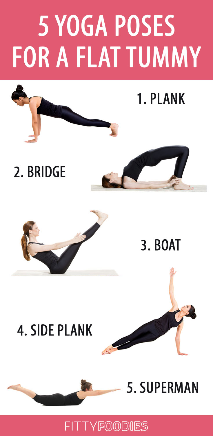 34 Yoga Poses For A Flat Tummy - FittyFoodies