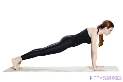 woman doing plank pose