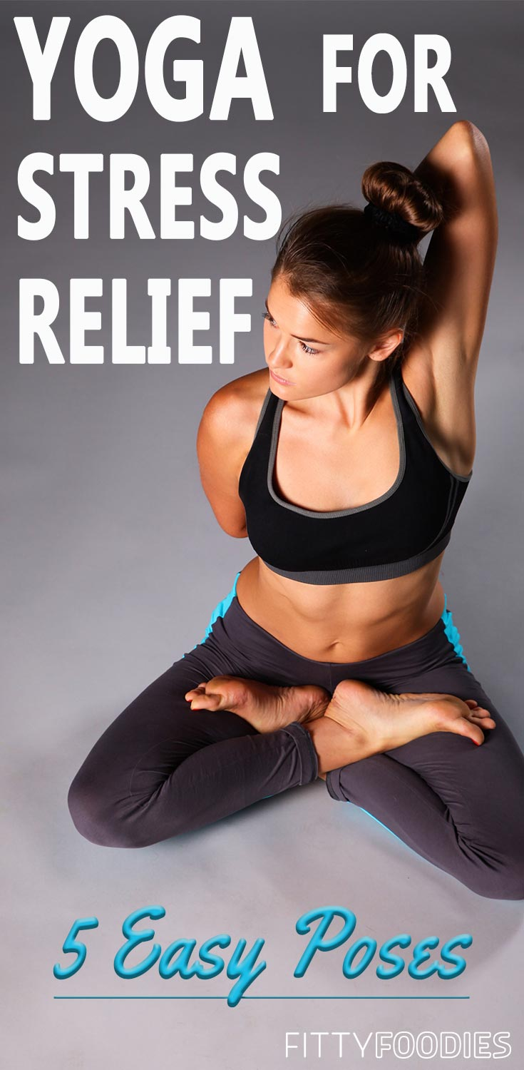 Yoga For Stress Relief: 5 Easy Poses | Yoga Poses Fore Stress | Yoga For Beginners Stress