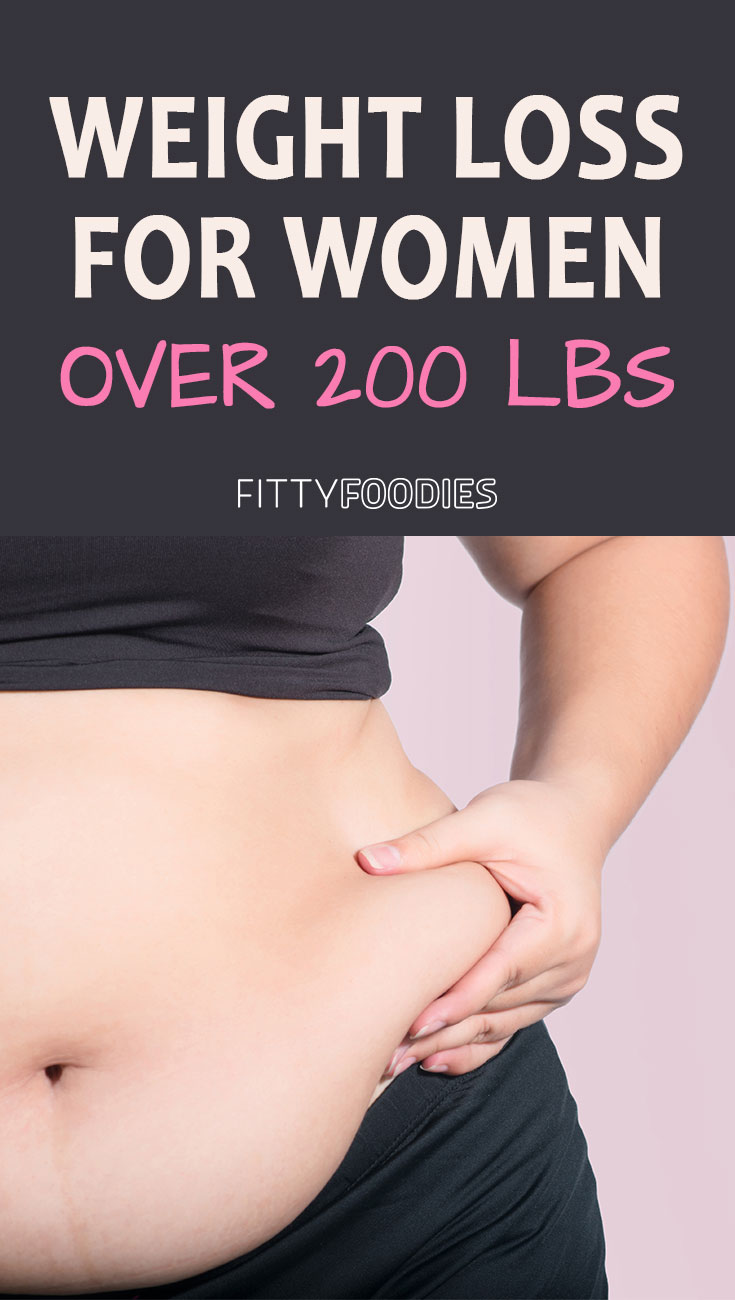 Weight Loss For Women Over 200 Pounds - Image For Pinterest