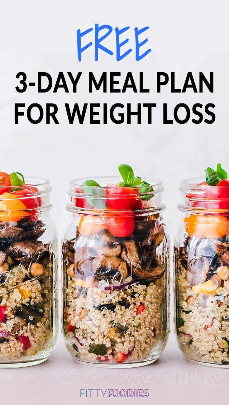 Free 3-Day Meal Plan For Weight Loss