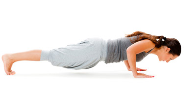 Low plank yoga pose for weight loss