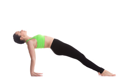 Upward or reverse plank yoga pose