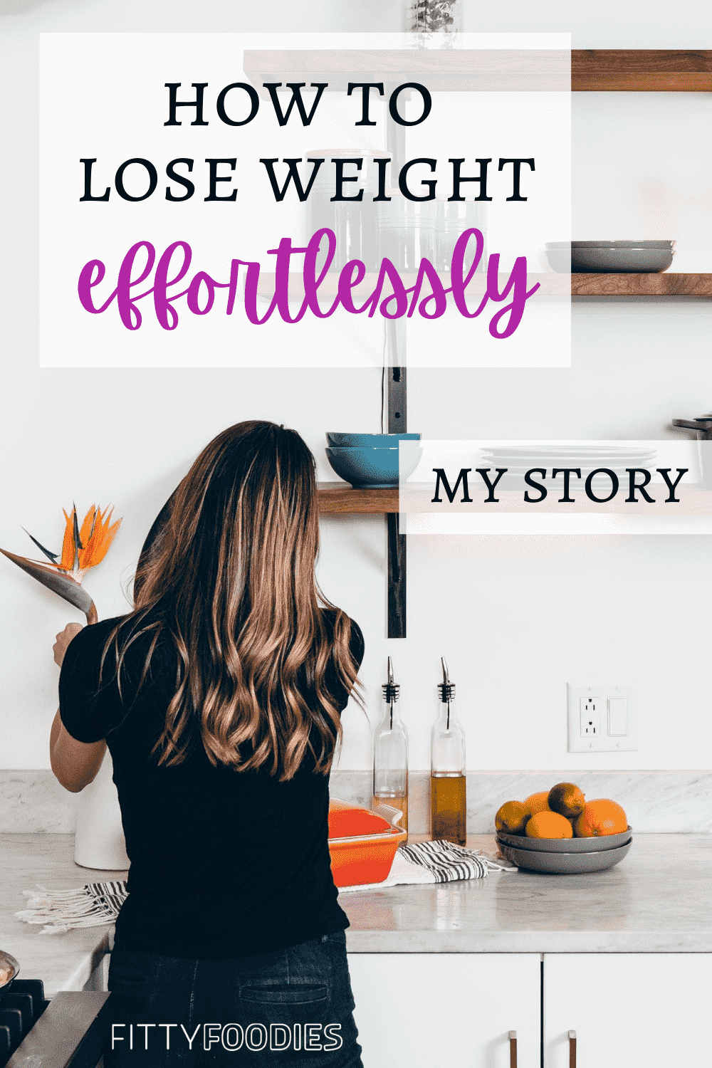 how to lose weight effortlessly image for Pinterest